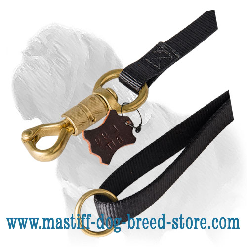Smart snap hook of nylong dog lead