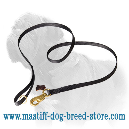 Dog lead of nylon material, easy in maintanance