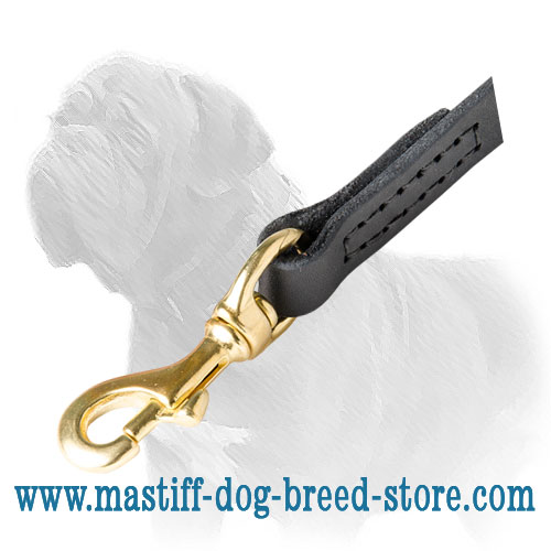 5 star quality leather dog leash for walks with your Mastiff