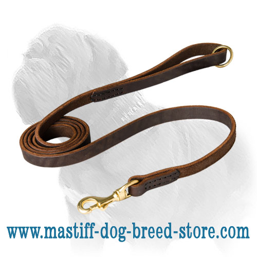Mastiff dog leash stitched with nylon threads