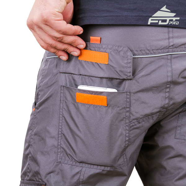 Comfy Design Professional Pants with Strong Back Pockets for Dog Training