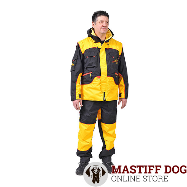 Bite Suit of Water Resistant Membrane Fabric for Training