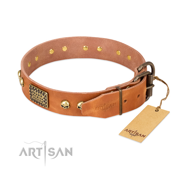 Reliable fittings on comfortable wearing dog collar