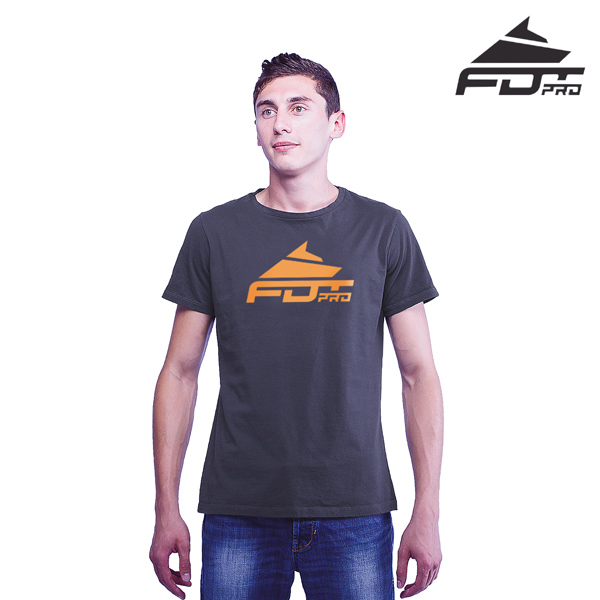 Finest Quality Cotton Pro Men T-shirt Dark Grey Color