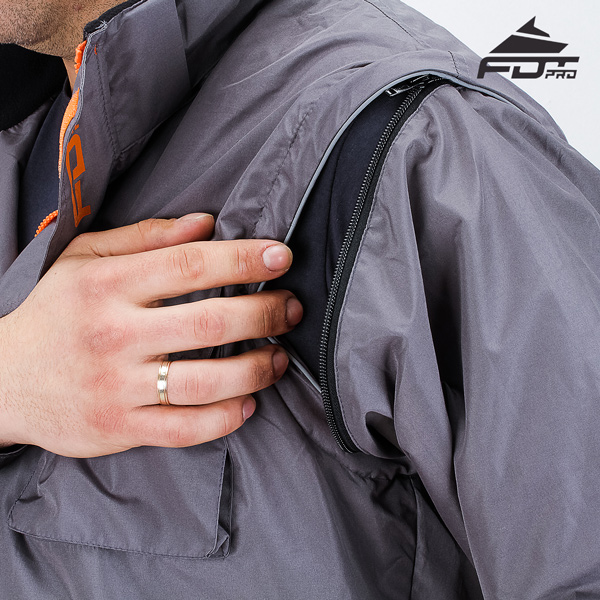 Strong Zipper on Sleeve for FDT Pro Design Dog Tracking Jacket