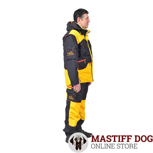 Convenient Dog Training Suit with a Few Pockets
