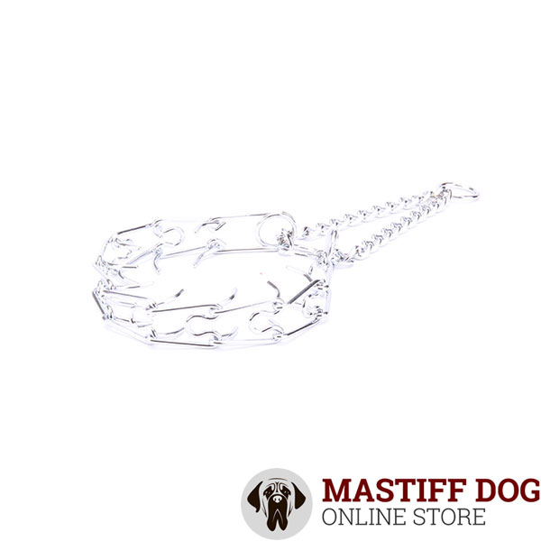 Best quality chrome plated dog prong collar for obedience training
