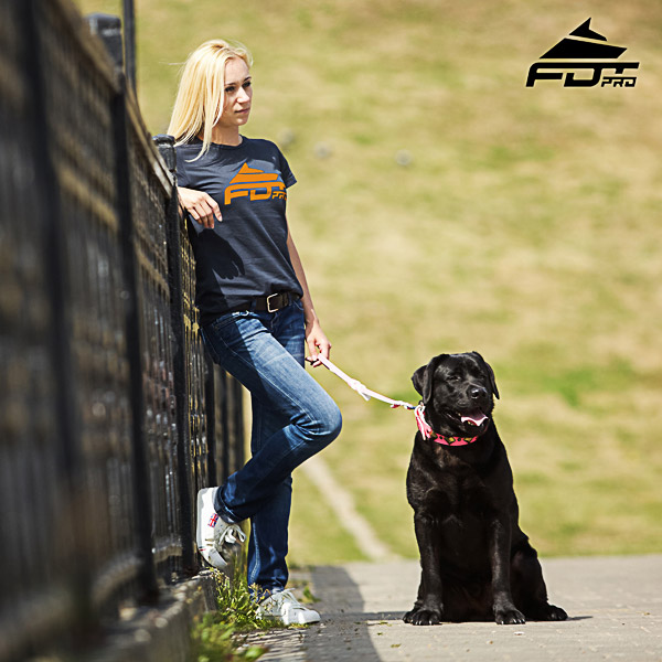 Women T-shirt of Best Quality Cotton for Dog Walking