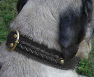 Handcrafted Leather Dog Collar for Mastiffs -Big handmade collar
