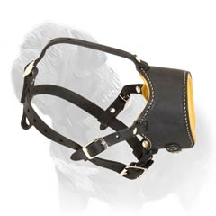 Easy to adjust Mastiff leather muzzle