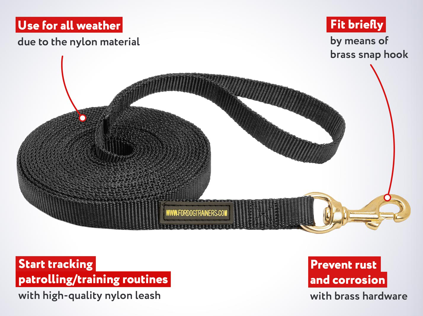 Best for Tracking Nylon Mastiff Dog Leash